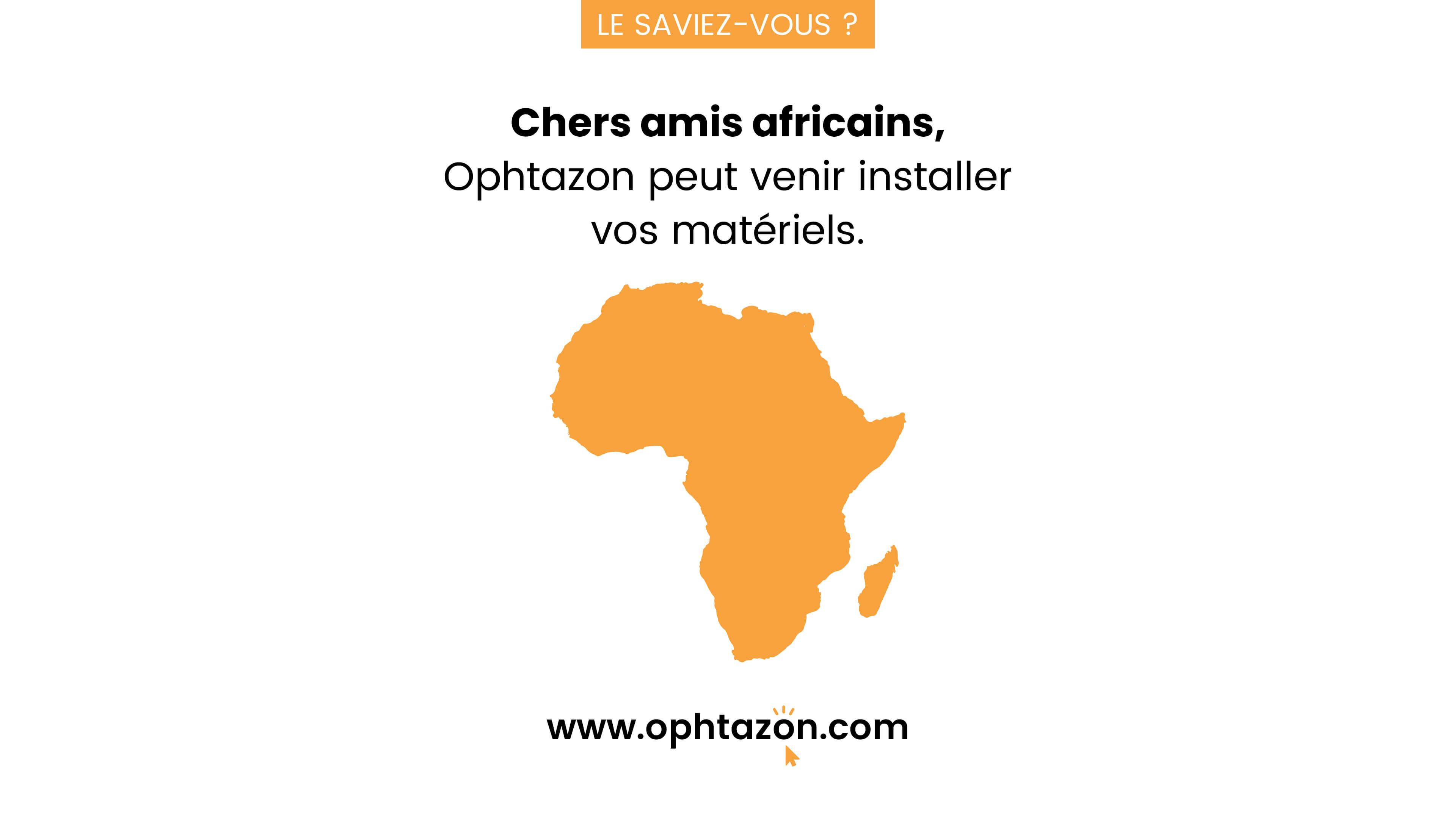 Installation d'équipement en Afrique