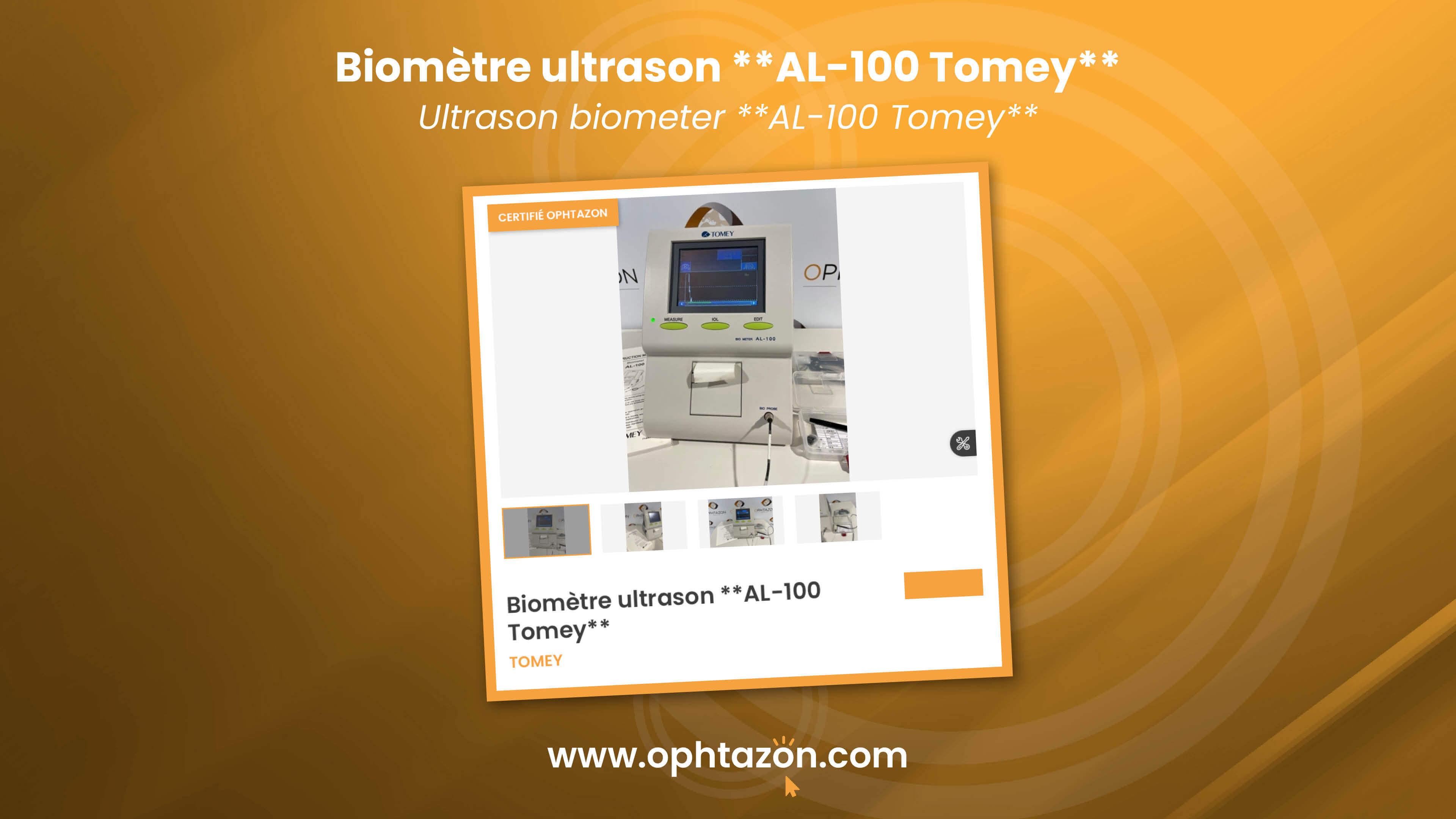 Le biomètre ultrason Tomey est disponible chez OPHTAZON
