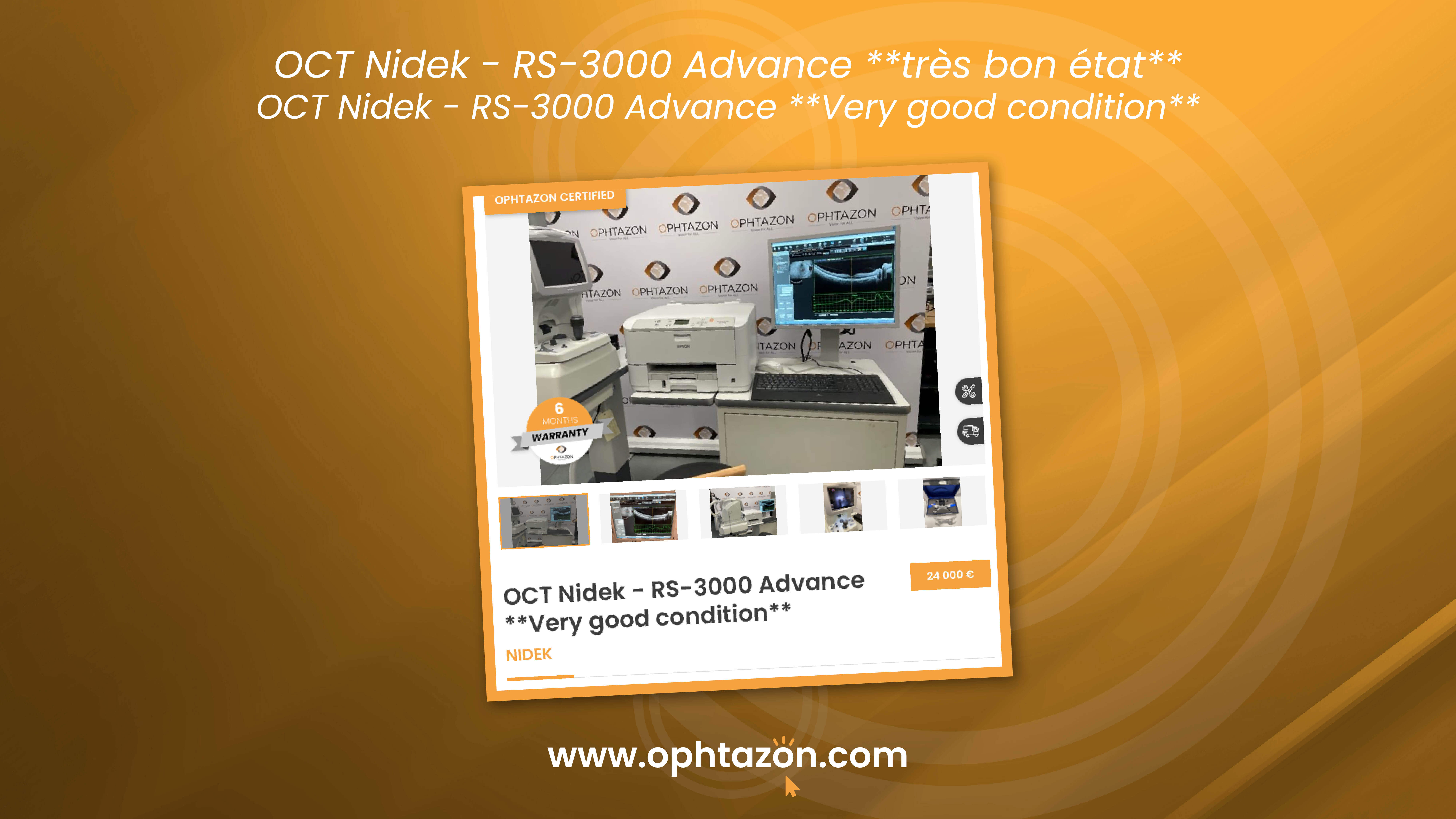 Le OCT Nidek - RS-3000 Advance très bon état est disponible