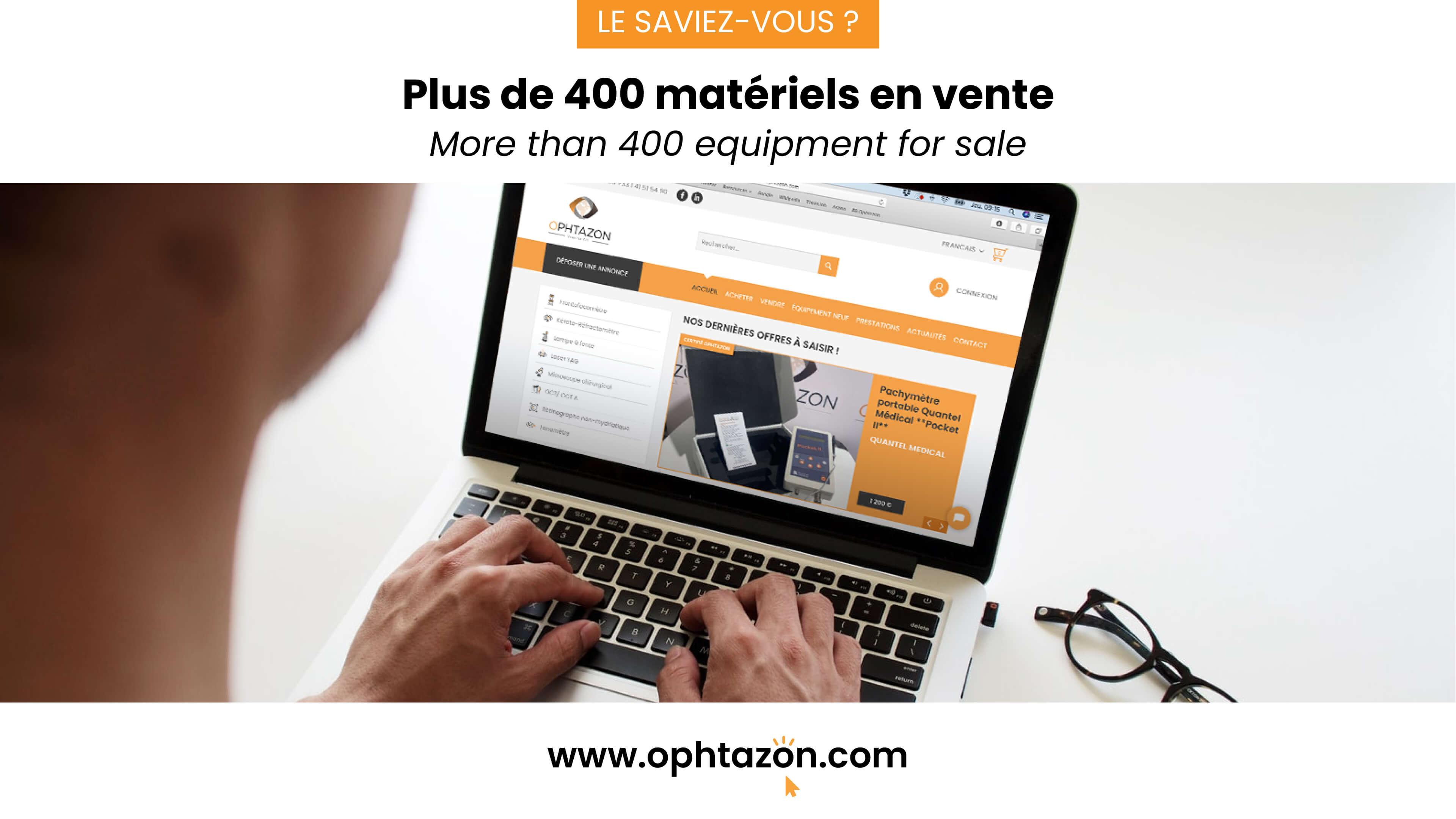 Plus de 400 matériels en vente