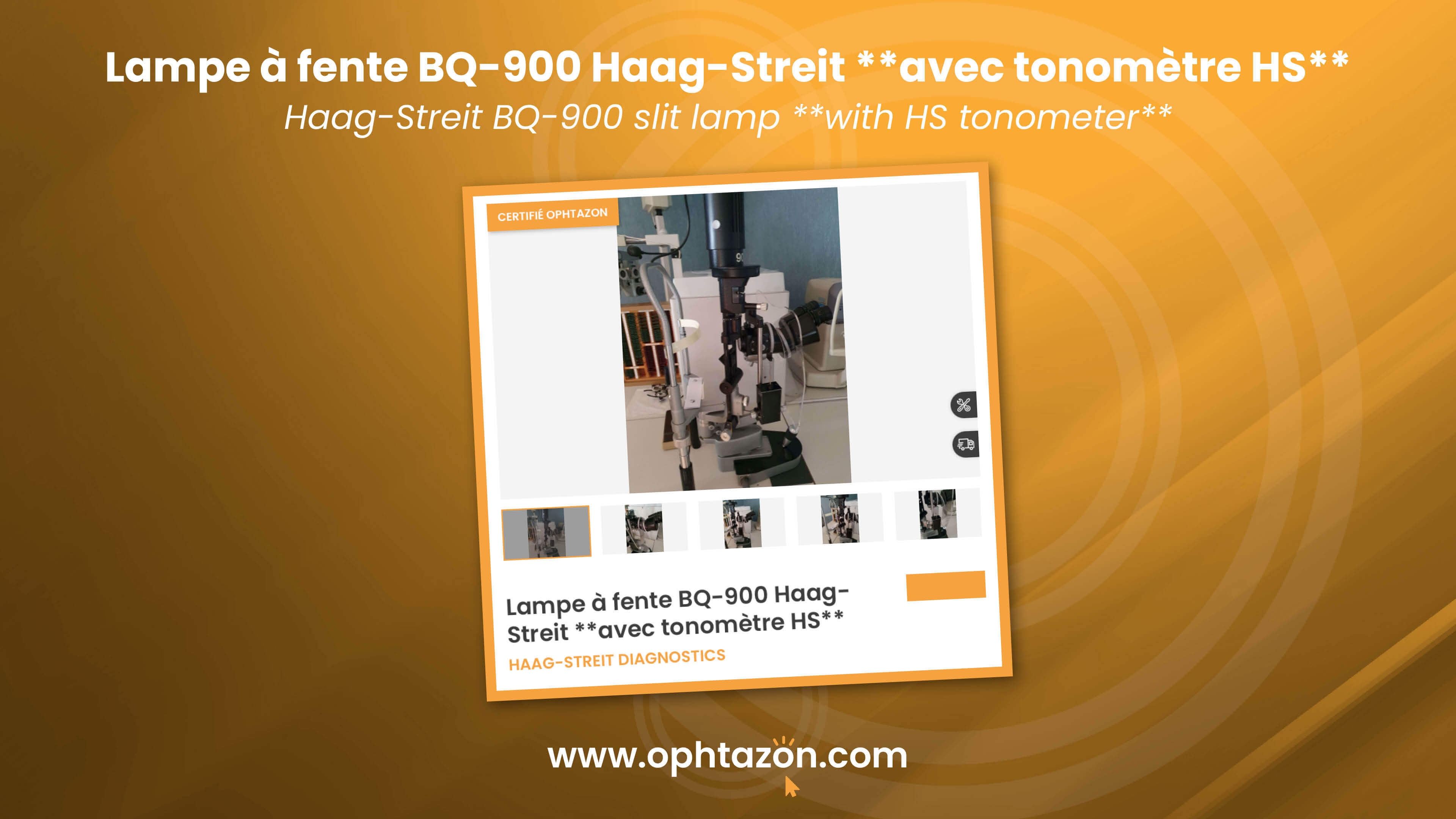 La lampe à fente BQ 900 Haag Streit est disponible chez OPHTAZON