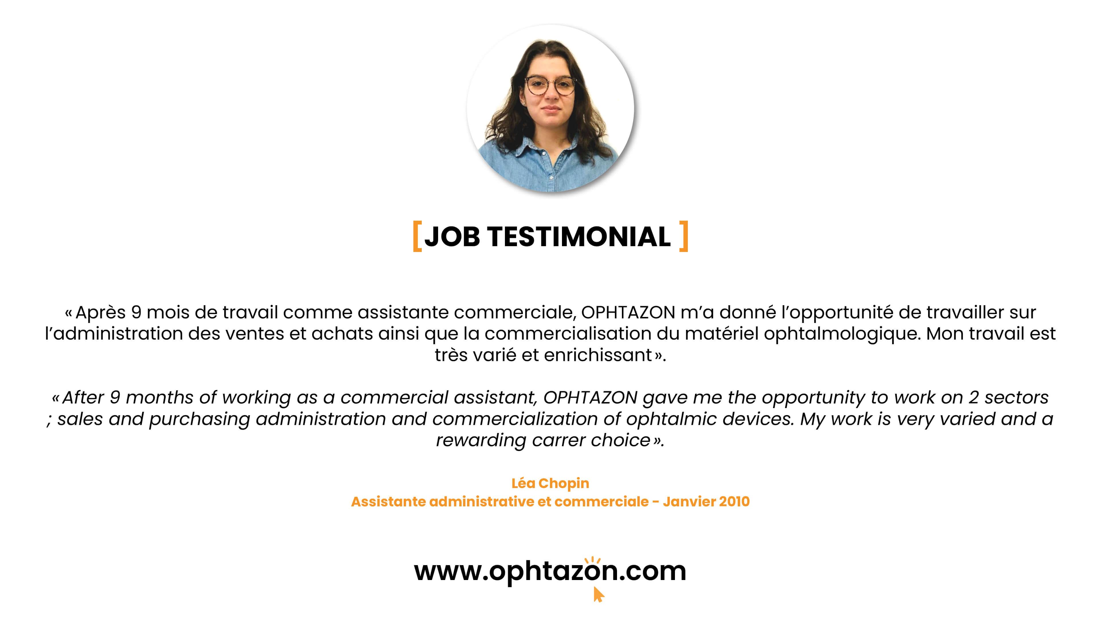 Job testimonial