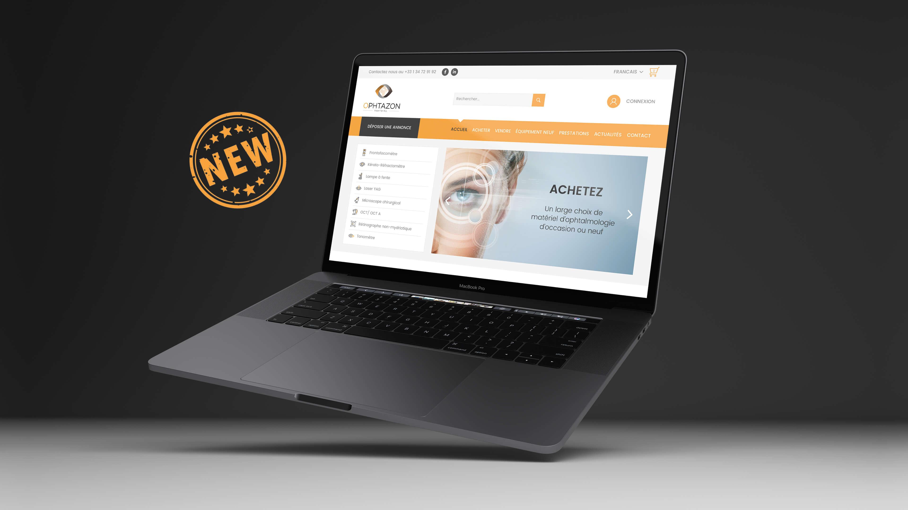 Un nouveau site internet pour OPHTAZON !